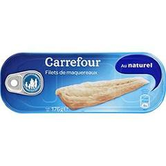 Filets de maquereaux au naturel