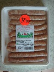 Chipolatas sans colorant BLAVET, 10 pieces, 500g