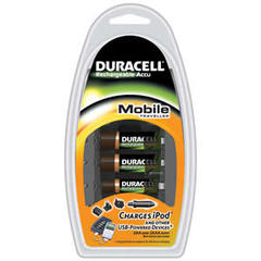 Chargeur nomade CEF23P DURACELL, 4 piles rechargeables incluses