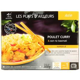 Madern poulet au curry et son riz 300g