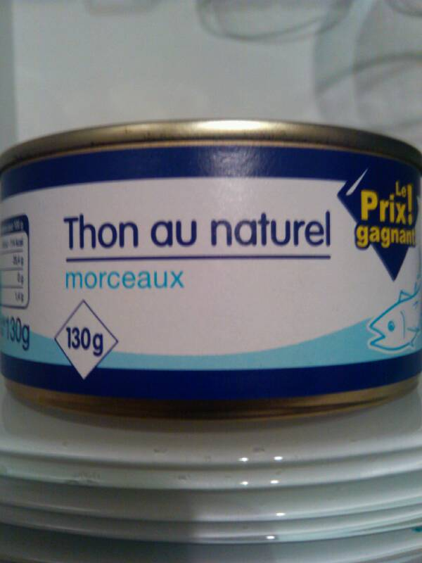 Thon au naturel 130g