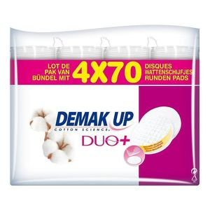 Cotons demaquillants Demak'up Duo 2 faces 4x70