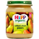 HiPP Organic Stage 1 From 4 Months William Christ Pears 6 x 125 g (Pack of 2, Total 12 Pots)