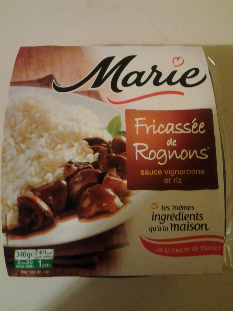 Fricassee de rognons a la vigneronne marie 340g tous for Plats cuisines marie