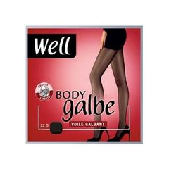 Collant voile Body Galbe WELL, taille 2, noir