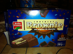 Belle France 8 Mini Brownies aux Pépites de Chocolat 240 g - Lot de 5