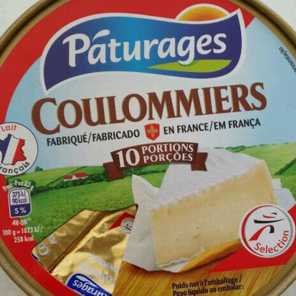 Pâturages Coulommiers en portions le fromage de 350 g