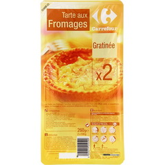 Tarte aux fromages gratinee