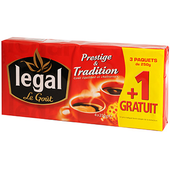 Cafe moulu Legal Prestige 3x250g