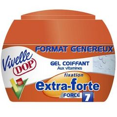 Gel coiffant fixation extra forte VIVELLE DOP, pot de 200ml
