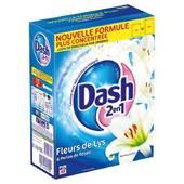 Lessive poudre dash 2en1 fleurs de lys 40 doses for Lessive en poudre ou liquide