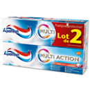 Aquafresh dentifrice multi actions original 2x75ml