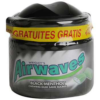Chewing-gum Airwaves Black menthol 70 + 10 gratuit
