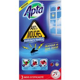 Apta, Stickers fenetre anti-mouches, la boite de 4 stickers