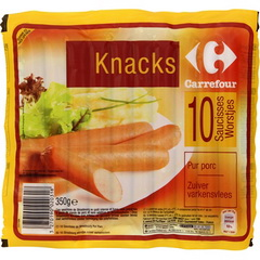 Saucisses de Strasbourg Knacks saucisses de Strasbourg pur porc Suggestion