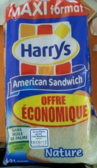 HARRYS AMERICAN SANDWICH NATURE Maxi 825G OFFRE ECO