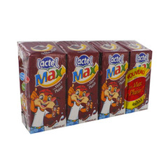 Lactel max chocolat uht brique lot 4x20cl