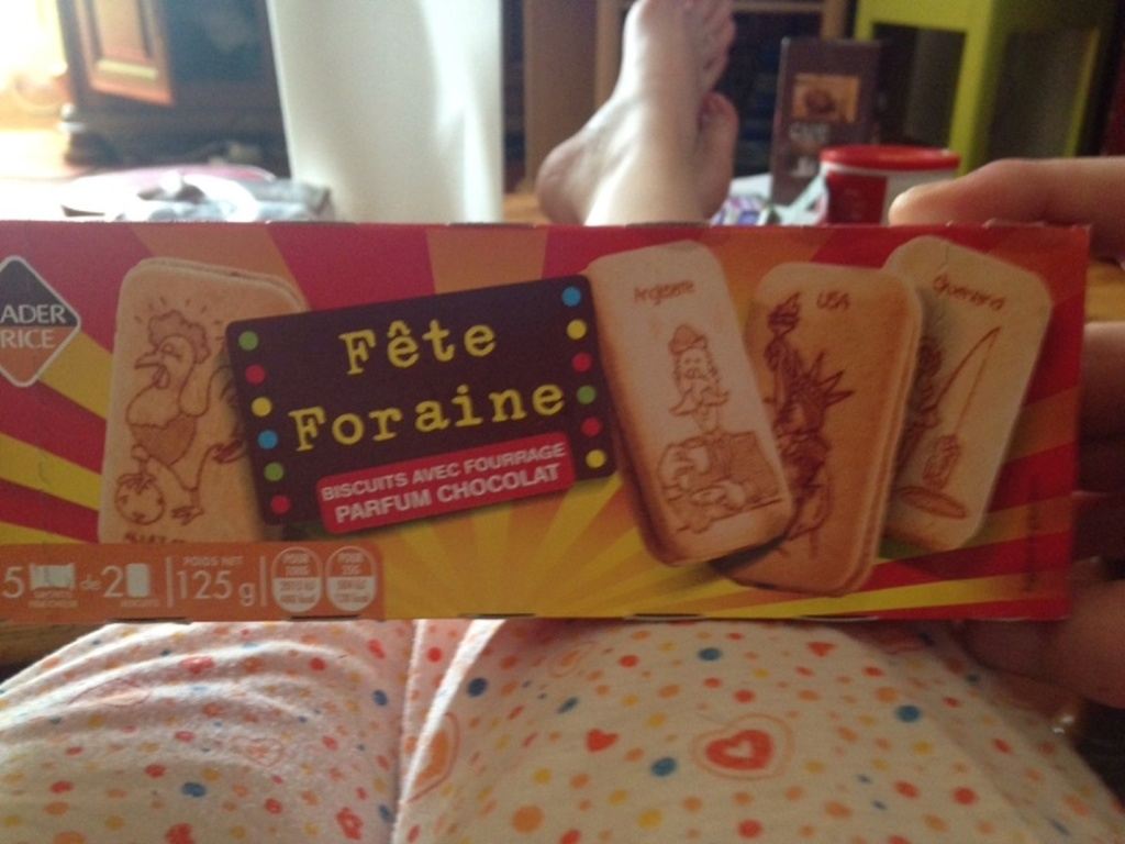 Fête foraine, biscuits fourrés chocolat 125g