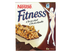 Fitness - Barre de cereales au ble complet et chocolat - 6 barres Source de fibres, riche en calcium, riche en 8 vitamines.