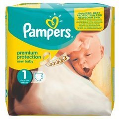 Couches new baby newborn taille 1 (2/5kg) PAMPERS, paquet x22