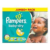 Couches Pampers Baby Dry Jumbo box T5 + x68