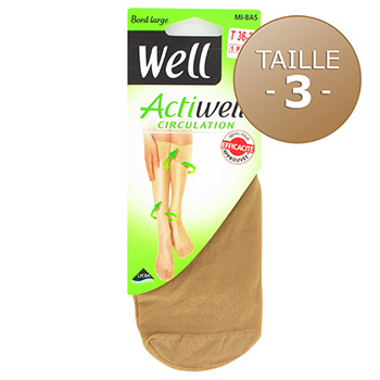 Mi-bas circulation Actiwell WELL, taille 36/38, ibiza