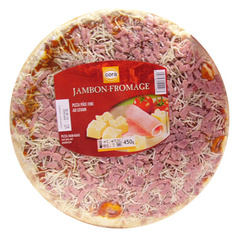 Pizza jambon, fromage