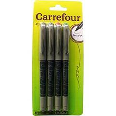 Stylos rollers pointe fine 0,5mm X4 Carrefour