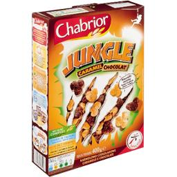 Jungle cereales soufflees au caramel et chocolat, le paquet de 400g