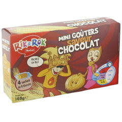 Rik & Rok - Mini gouters saveur chocolat Riche en ble