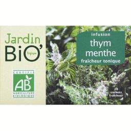 Le jardin bio infusion thym menthe 30g tous les produits for Jardin 1001 saveurs