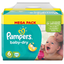 Couches Baby Dry T6 (Large) 15 kg et plus Pampers