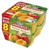 Andros pomme abricot 8x100g