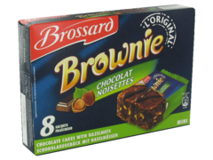 Mini-brownies aux noisettes BROSSARD, 8 pieces, 240g