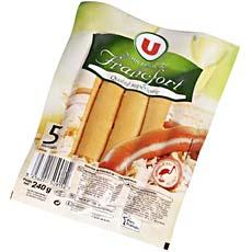 Saucisses de Francfort U, 6 pieces, 240g
