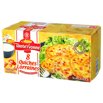 Mini quiches Cote table x8 800g