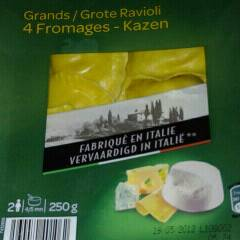 Grands ravioli 4 fromages