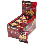 Shortbread Cookies, Chocolate Chip, 2 Cookies/Pack, 24 Packs/Box
