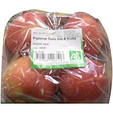 Pommes royal gala bio PRODIVA, 4 fruits, 600g