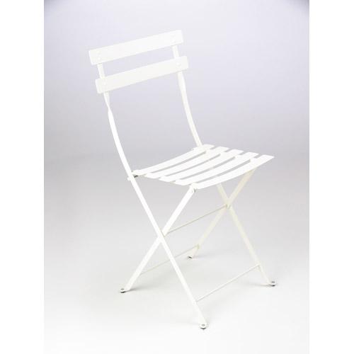 Chaise bistro metal blanc tous les produits jardin prixing for Chaise metal blanc