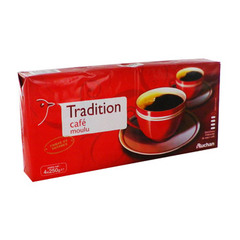 cafe moulu tradition 4x250g auchan