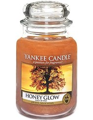 Yankee Candle 1315065E Bougie senteur Honey Glow jarre Rouge L