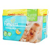 Couches Pampers Baby Dry T3 + Jumbo + x82