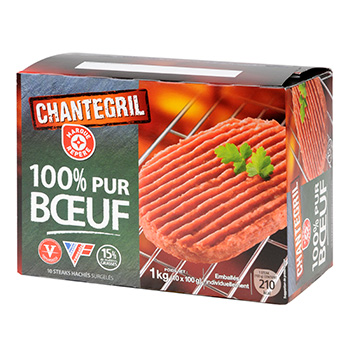 Steak hache Chantegril 15%mg x10 1kg