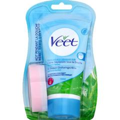 Creme depilatoire sous la douche eponge peaux sensibles - Creme depilatoire veet sous la douche ...