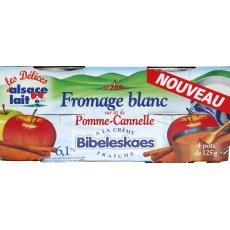 Bibeleskaes fromage blanc pomme cannelle 4x125g 6.3%MG