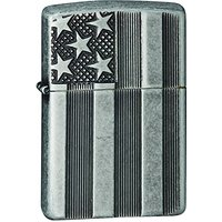 Zippo briquet 15281 compresseur stars and stripes choice collection 2015/2016, antique silver plate armor deep...