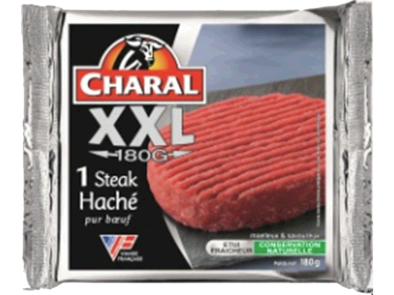Steak hache XXL 15% de MG CHARAL, 180g
