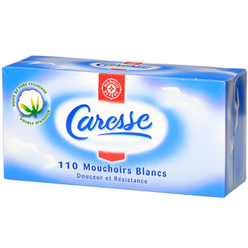 Mouchoirs Caresse blancs x110