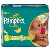 Pampers baby dry midpack change x23 taille 6